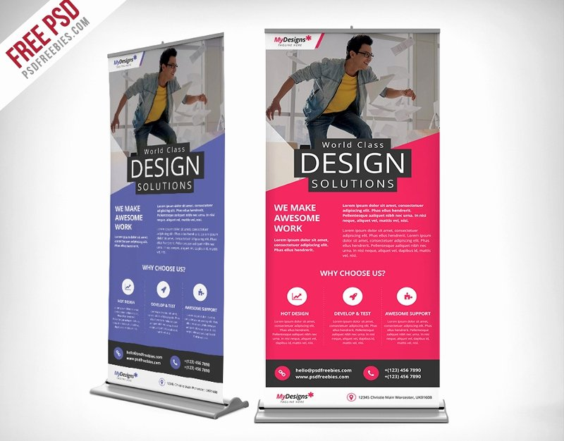 Roll Up Banner Template Elegant 37 Roll Up Banner Designs for Your Advertising Needs