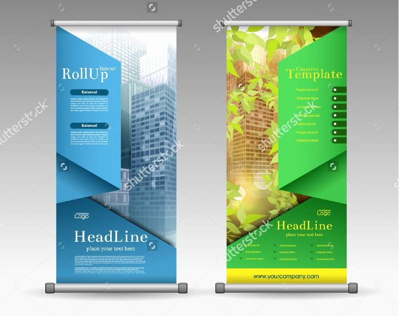 Roll Up Banner Template Inspirational 37 Roll Up Banner Designs for Your Advertising Needs