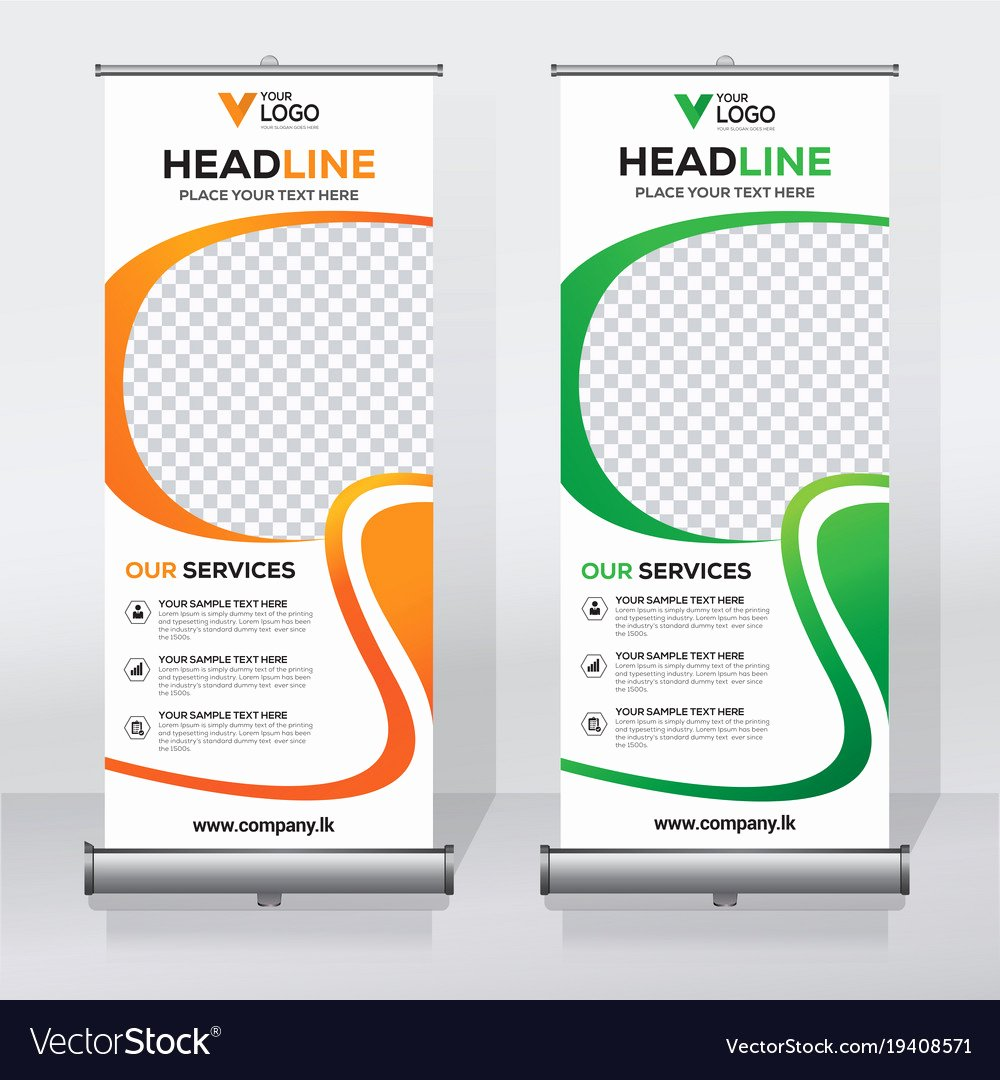 Roll Up Banner Template Luxury Creative Roll Up Banner Design Template Royalty Free Vector