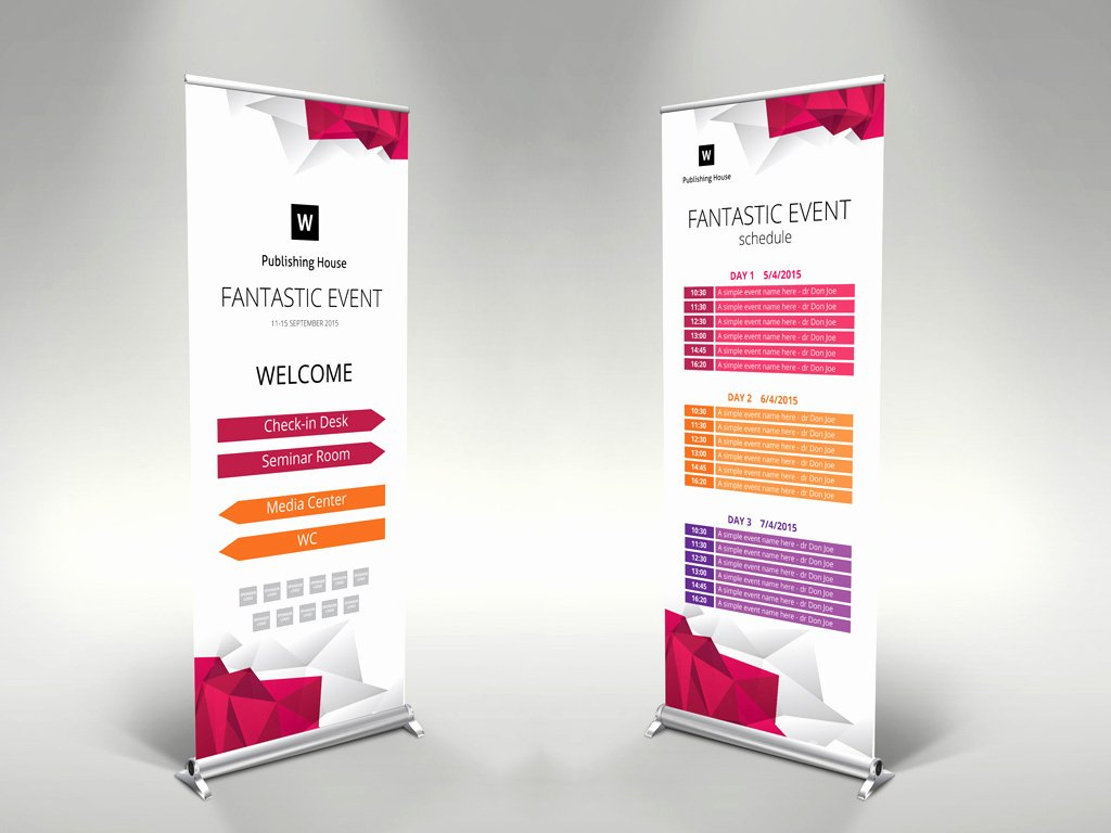 Roll Up Banner Template New event Roll Up Banner Template – themzy Templates