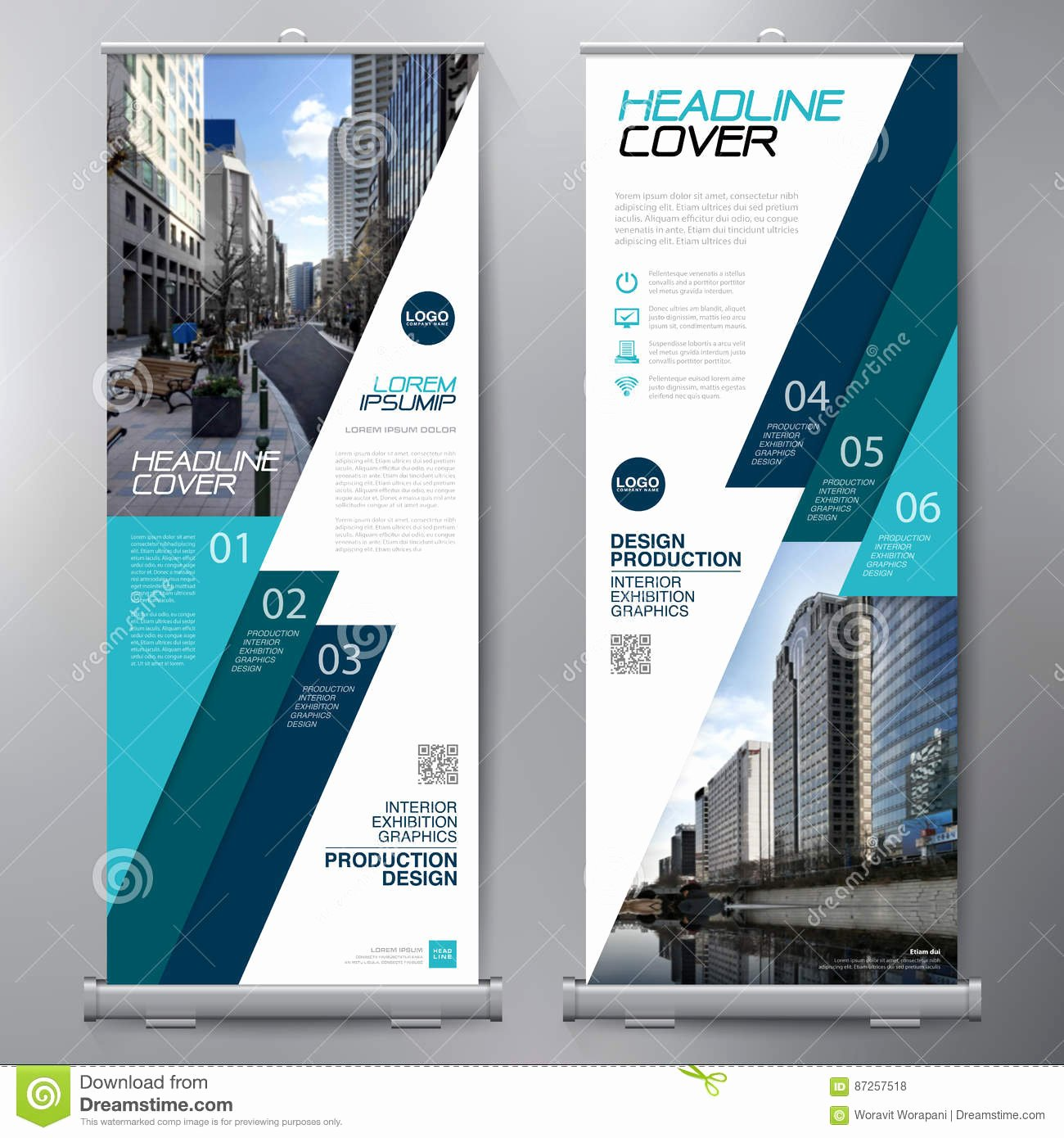 Roll Up Banner Template Unique Business Roll Up Standee Design Banner Template Stock