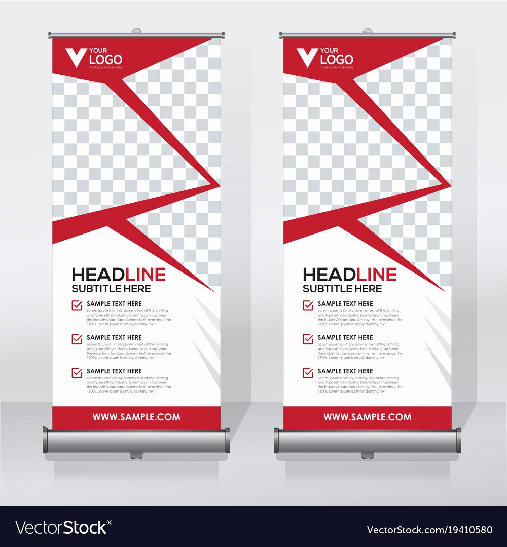 Roll Up Banner Template Unique Creative Roll Up Banner Design Template Royalty Free Vector