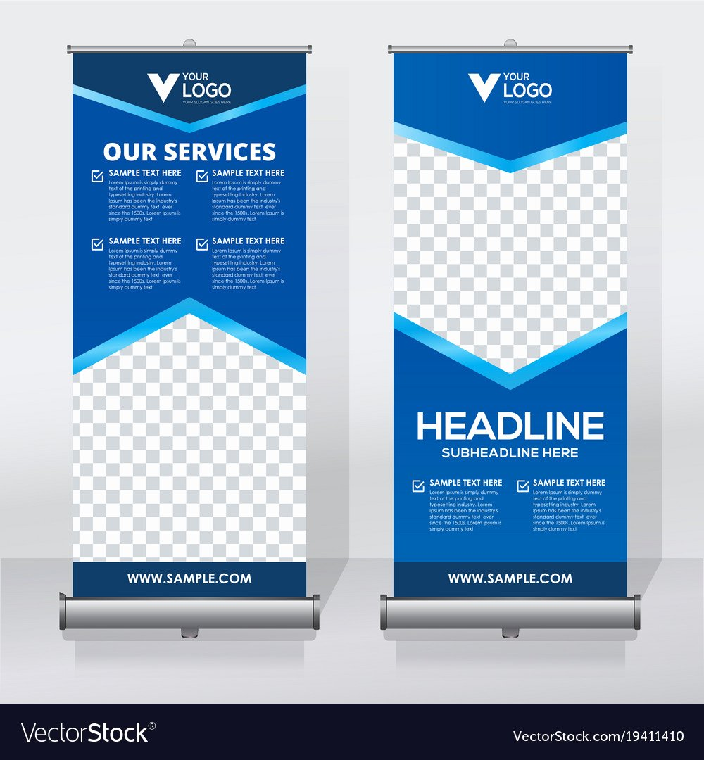 Roll Up Banners Template Beautiful Creative Roll Up Banner Design Template Royalty Free Vector