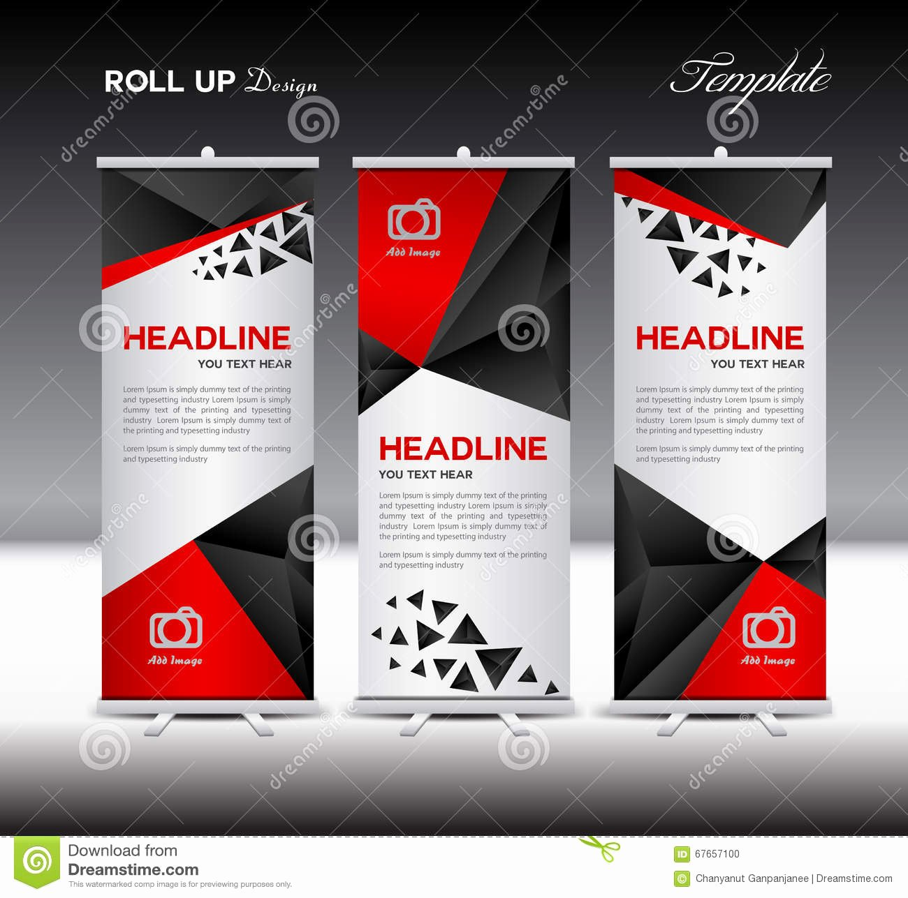 Roll Up Banners Template Elegant Black Roll Up Banner Template Vector Roll Up Stand