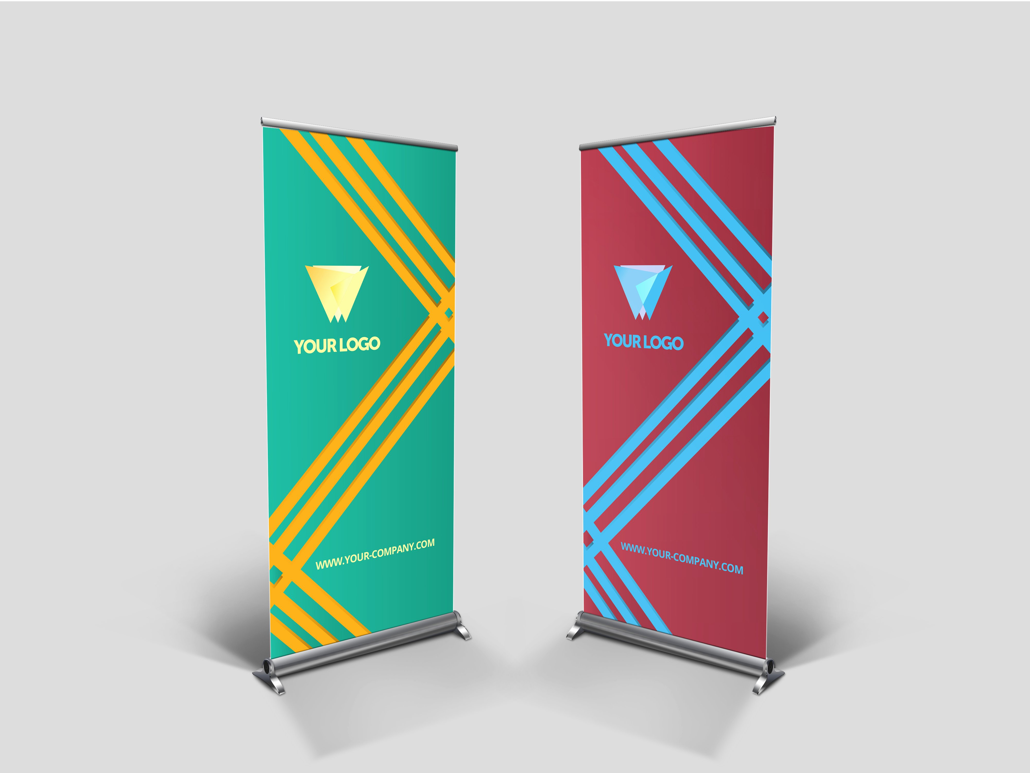Roll Up Banners Template Elegant Business Roll Up Banner V003 Presentation Templates On