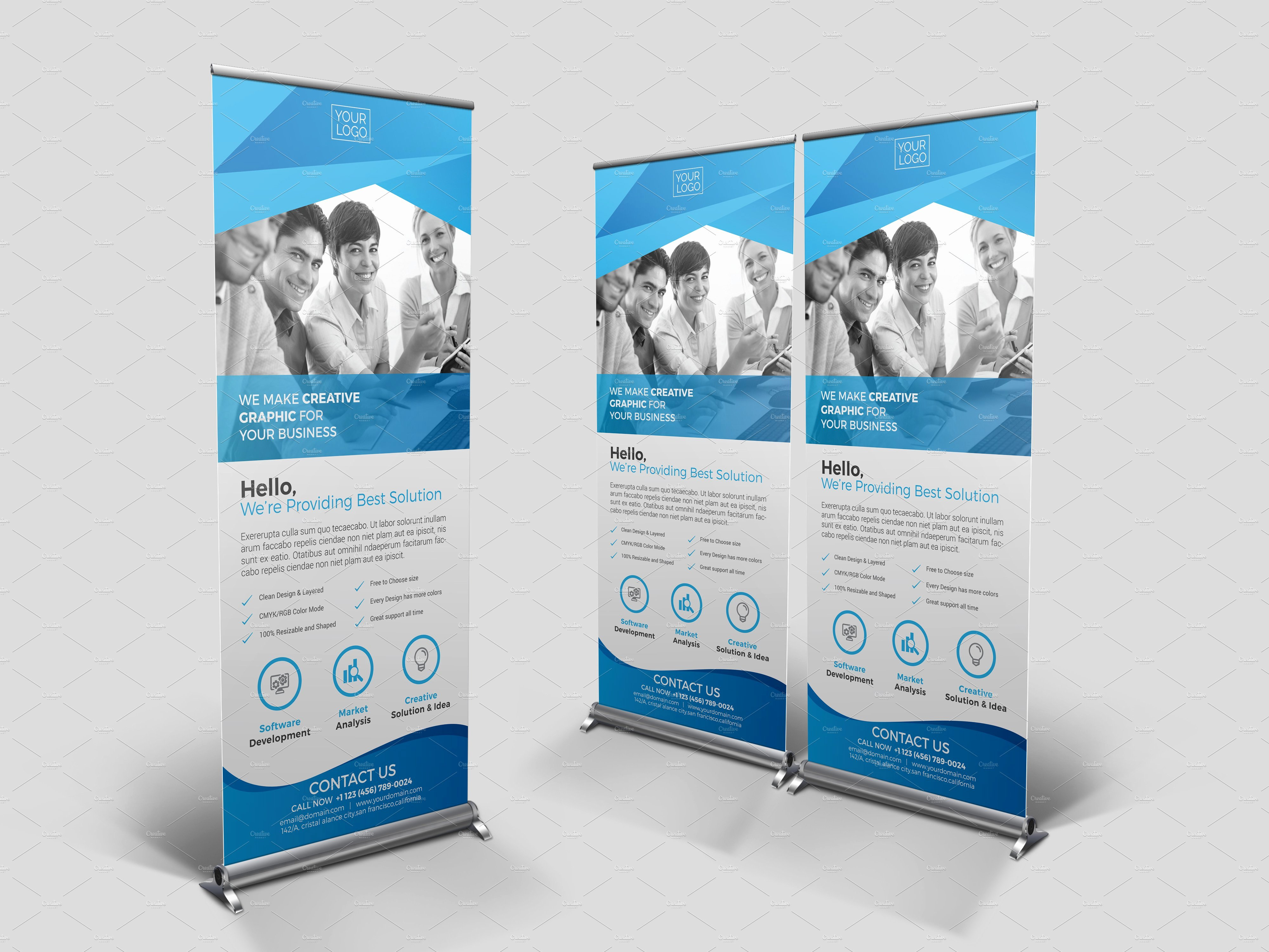 Roll Up Banners Template Fresh Roll Up Banner Template Flyer Templates Creative Market