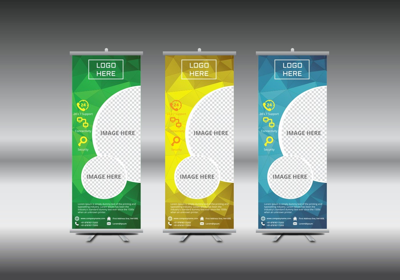 Roll Up Banners Template Lovely Roll Up Banner Template Vector Illustration Download