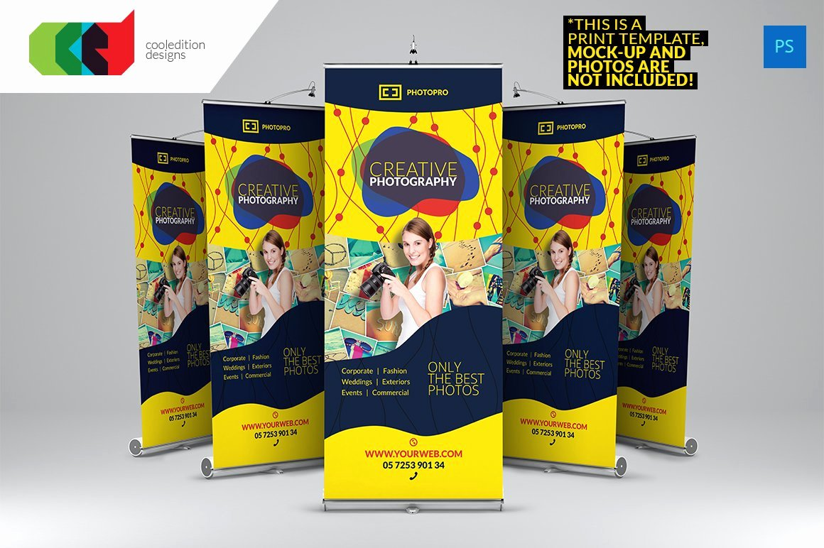 Roll Up Banners Template Luxury Graphy Roll Up Banner 2 Flyer Templates