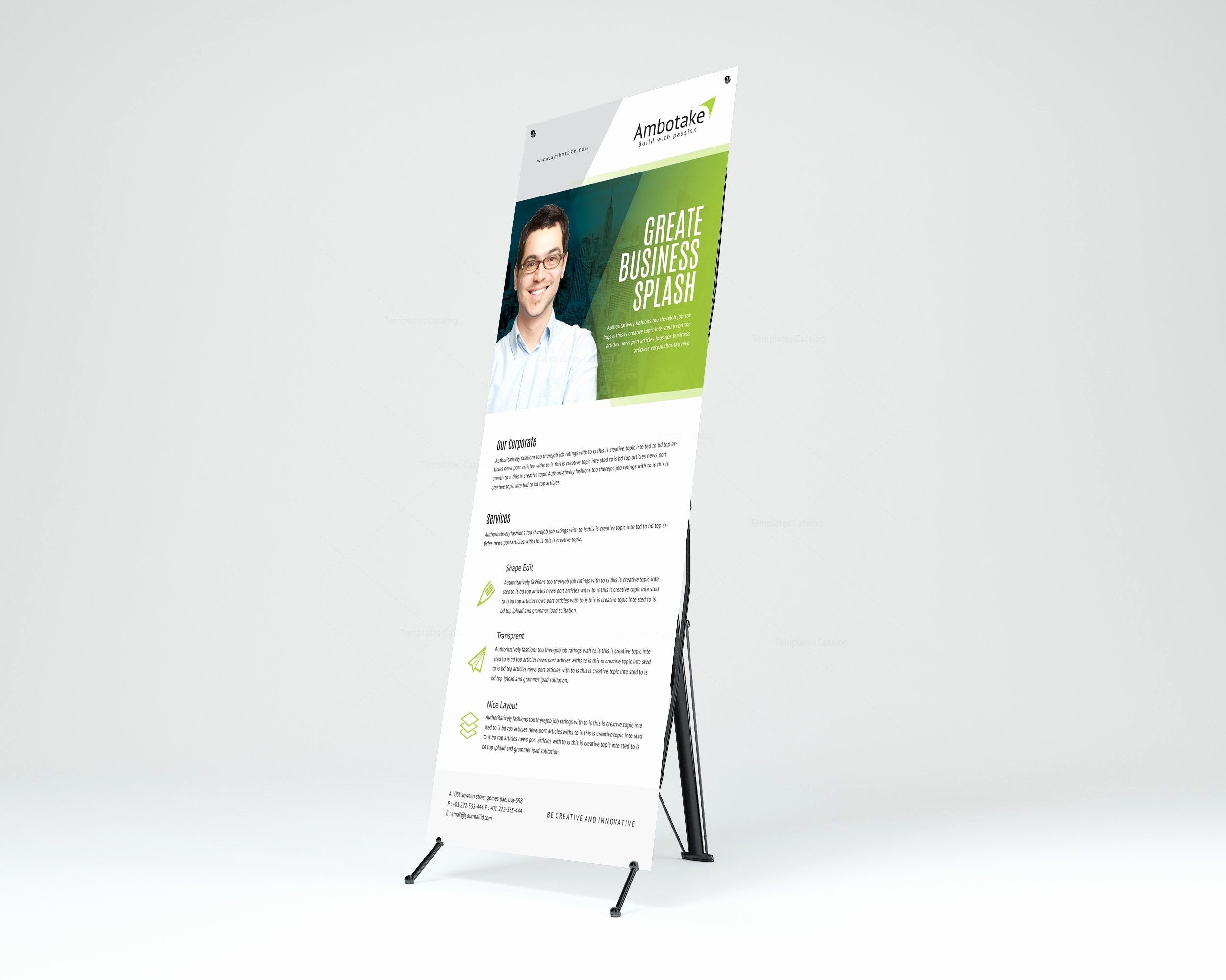 Roll Up Banners Template Unique Apollo Corporate Roll Up Banner Template Template
