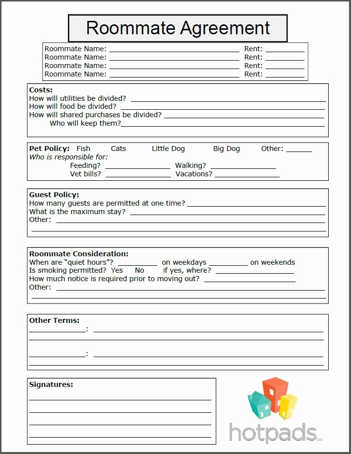 Roommate Agreement Template Free Lovely 25 Best Ideas About Roommates On Pinterest