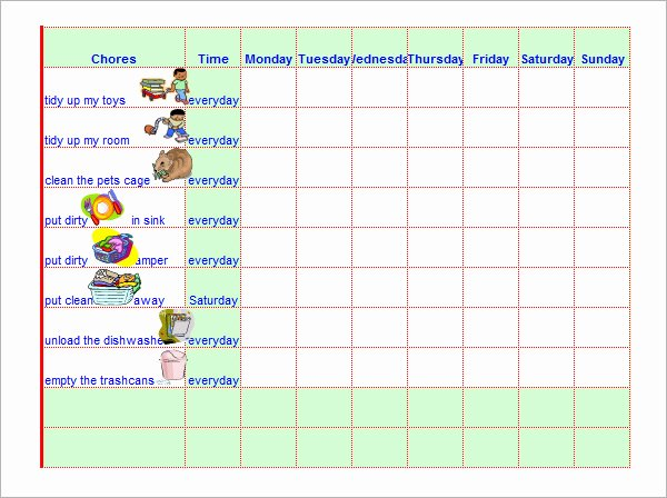 Roommate Chore Chart Template Fresh Chore Chat Template 14 Download Free Documents In Word Pdf