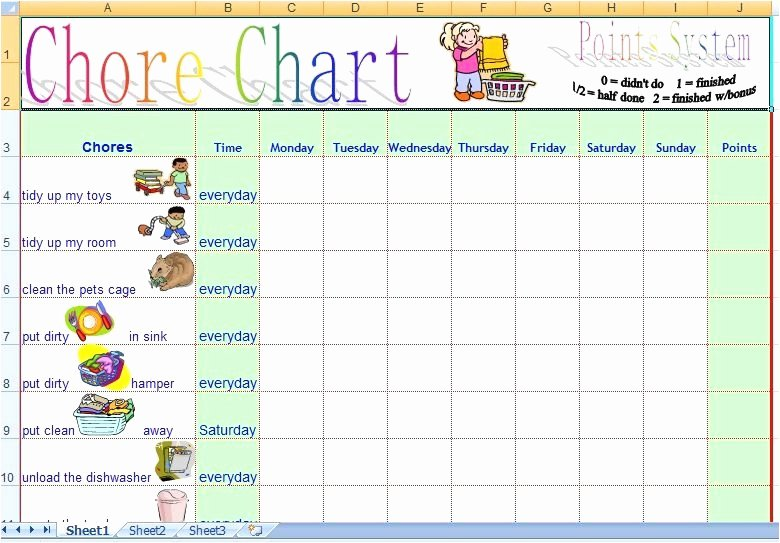 Roommate Chore Chart Template Luxury Roommate Chore Chart Template New Chore Chart Template New