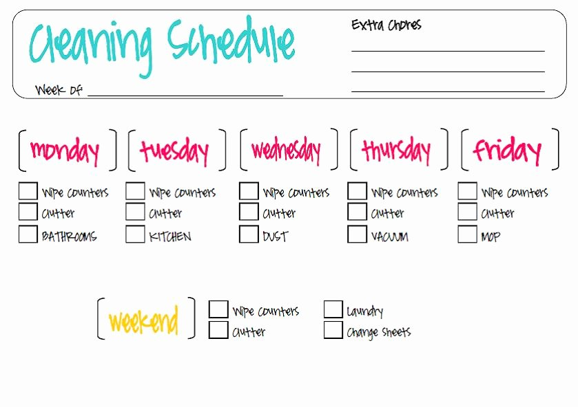 Roommate Chore Chart Template New Roommate Cleaning Schedule Template