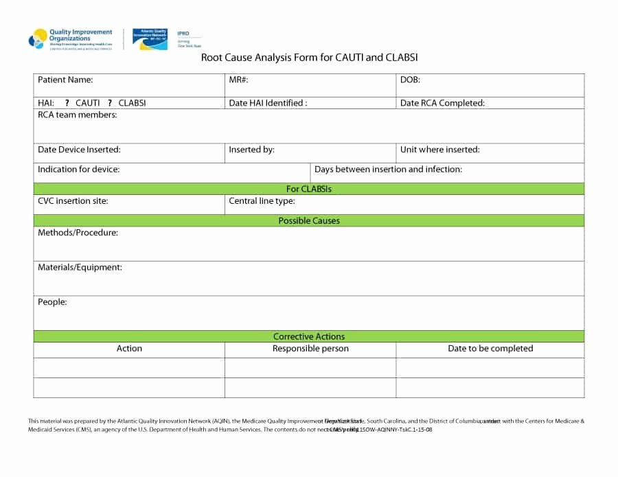 Root Cause Analysis Template Beautiful 40 Effective Root Cause Analysis Templates forms & Examples
