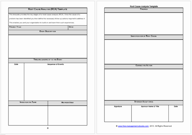 Root Cause Analysis Template Best Of 24 Root Cause Analysis Templates Word Excel Powerpoint