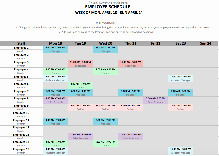 Rotating Shift Schedule Template Awesome Rotating Shift Schedule