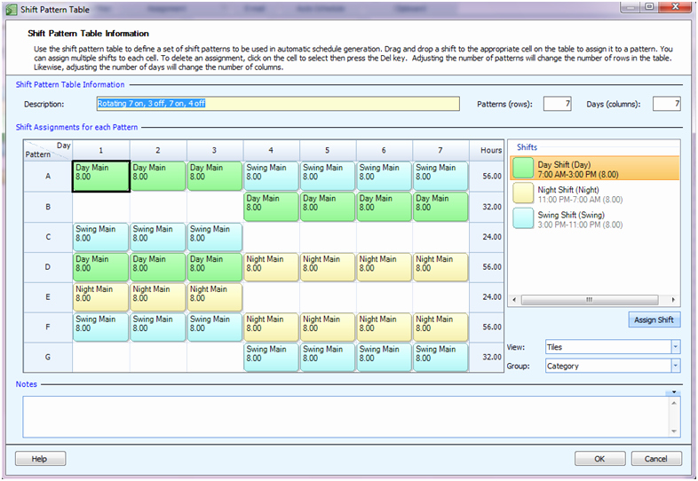 Rotating Shift Schedule Template Elegant Employee Scheduling Example 24 7 8 Hr Rotating Shifts