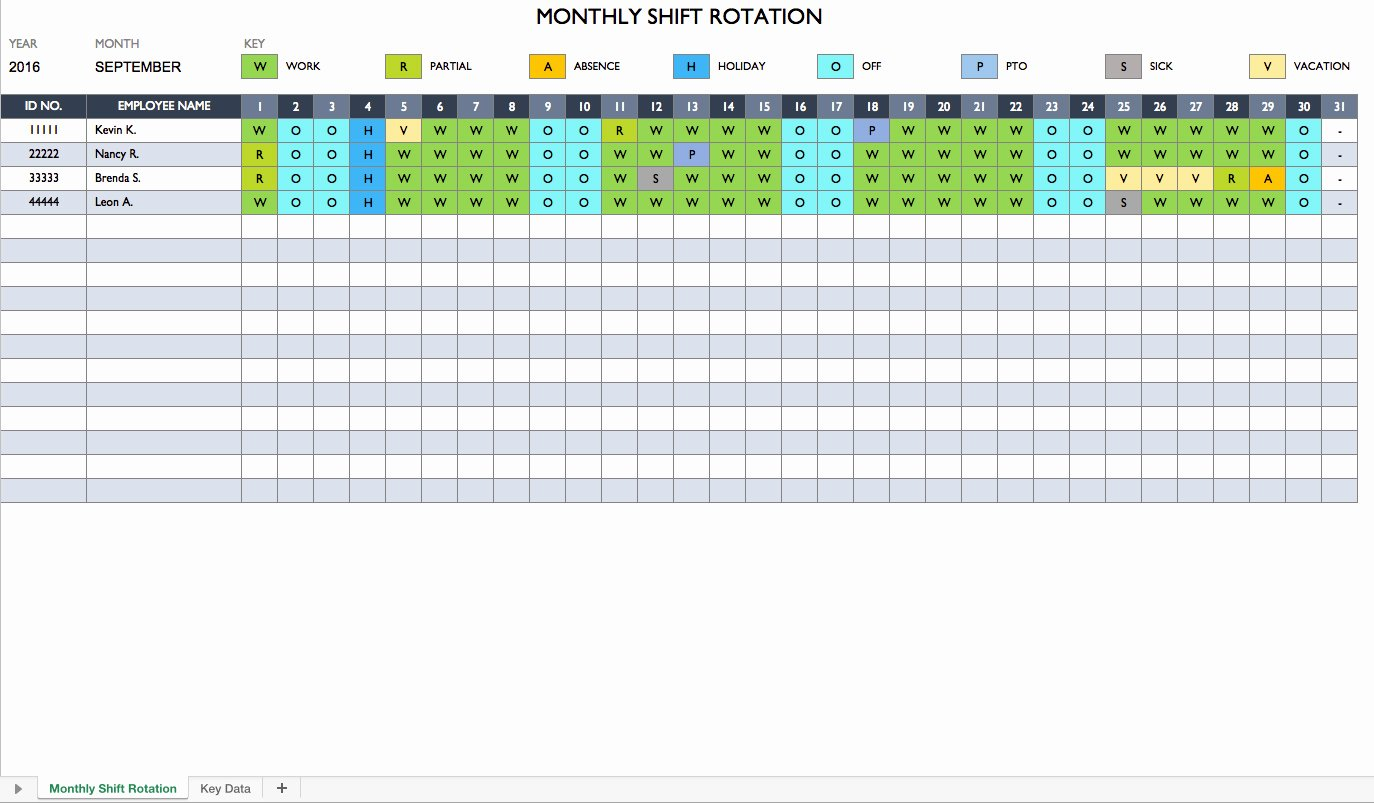 Rotating Shift Schedule Template Luxury Rotating Shift Schedule Template