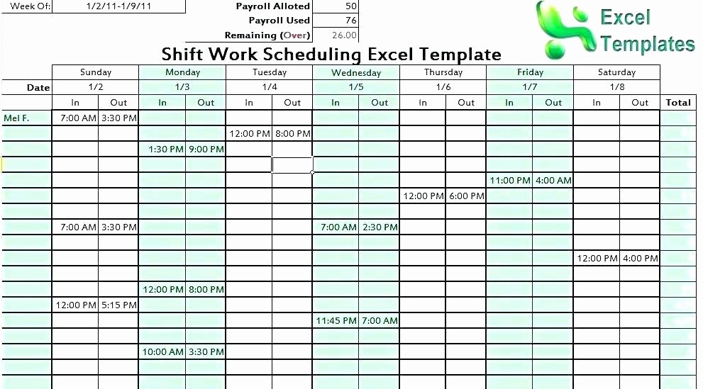 Rotating Weekend Schedule Template New Rotating Weekend Schedule Template