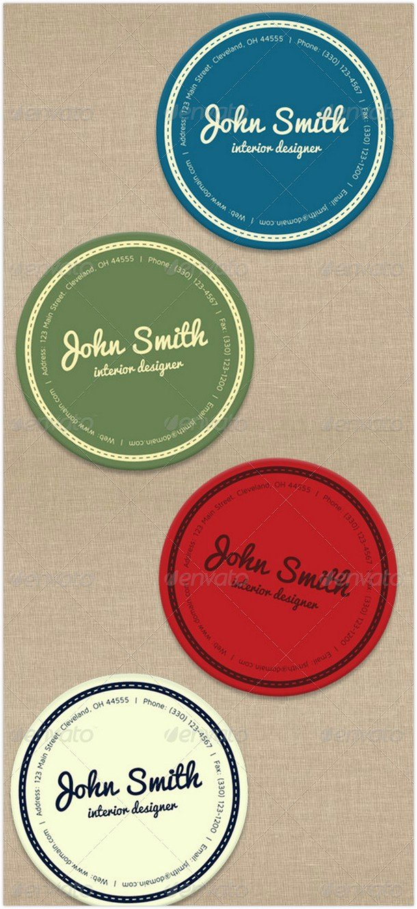 Round Business Cards Template Awesome 36 Best Circular Business Cards to Inspire You 2018