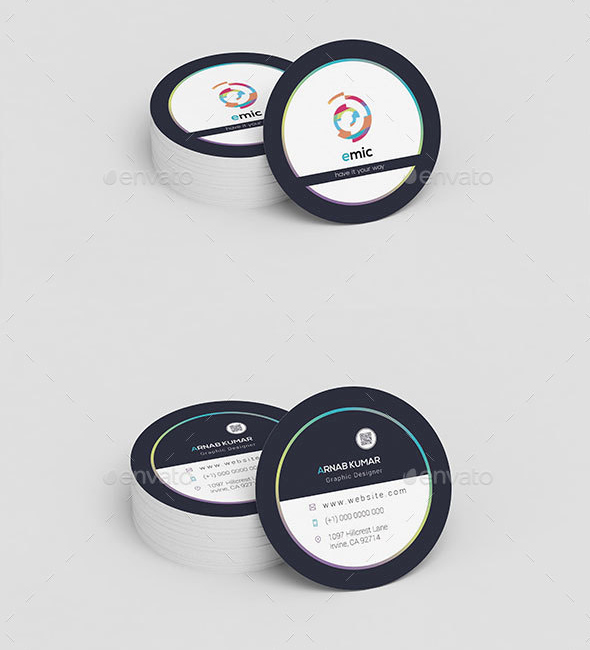 Round Business Cards Template New 9 Circle Business Card Designs & Templates Psd Ai
