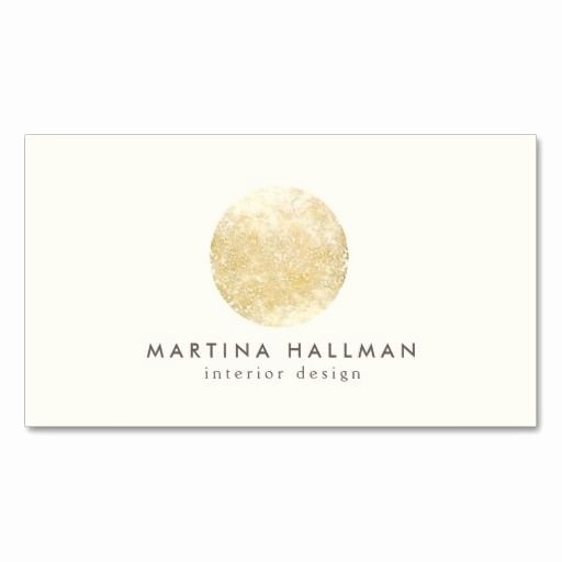 Round Business Cards Template Unique Interior Designer Abstract Decorative Gold Circle Business