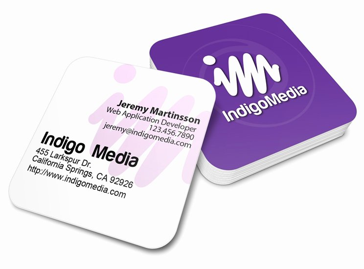 Rounded Business Card Template Awesome Rounded Corners Square Business Card