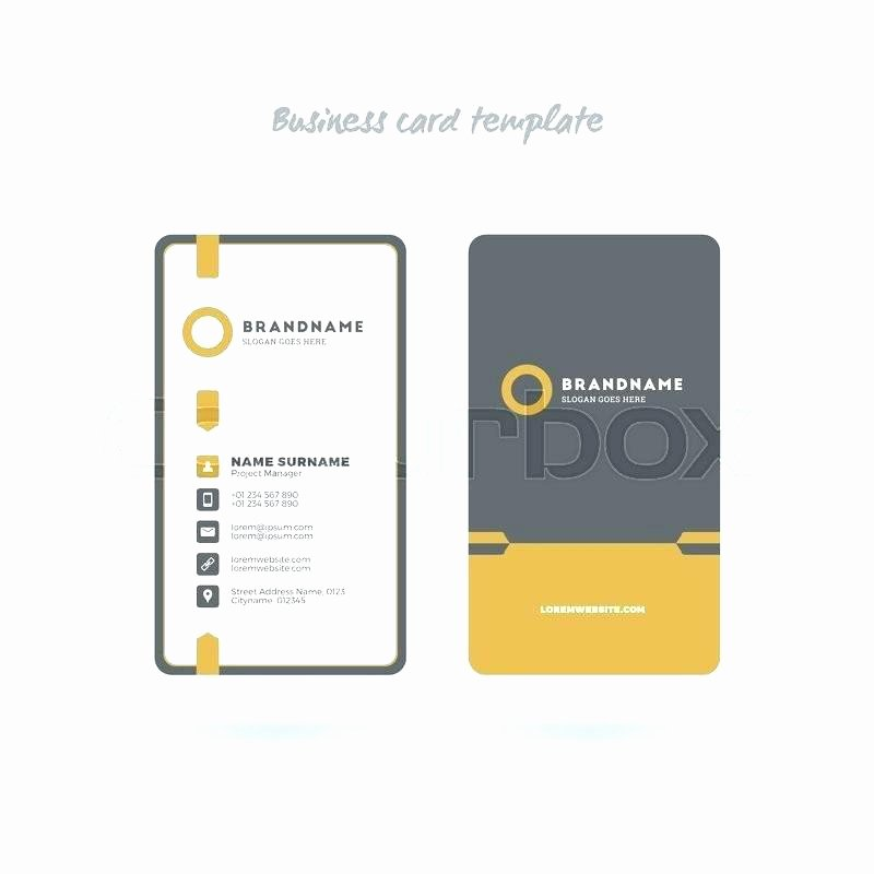 Rounded Business Card Template Beautiful Rounded Business Card Template Vertical Illustrator New