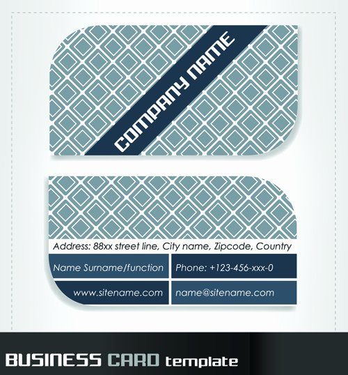 Rounded Business Card Template Elegant Rounded Business Cards Template Vector Material 06