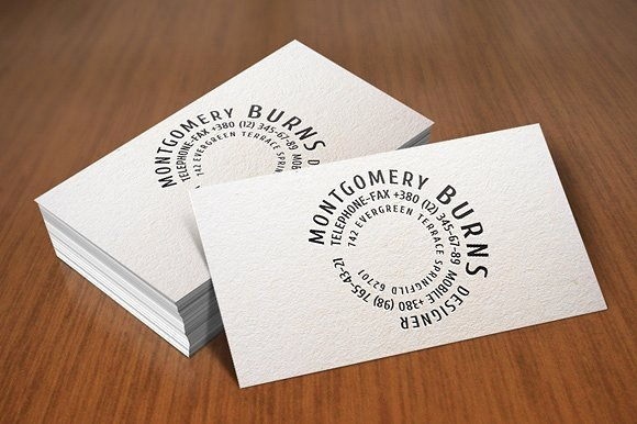 Rounded Business Card Template Inspirational 9 Circle Business Card Designs & Templates Psd Ai