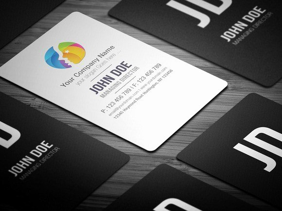 Rounded Business Card Template Inspirational Free Round Edge Business Card Template Free Download