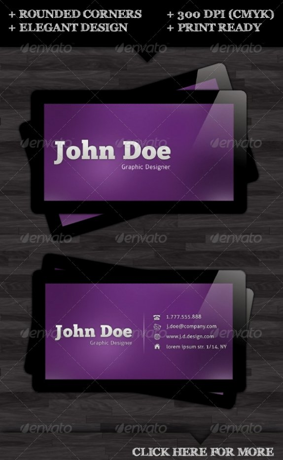 Rounded Business Card Template New Cardview – Business Card & Visit Card Design