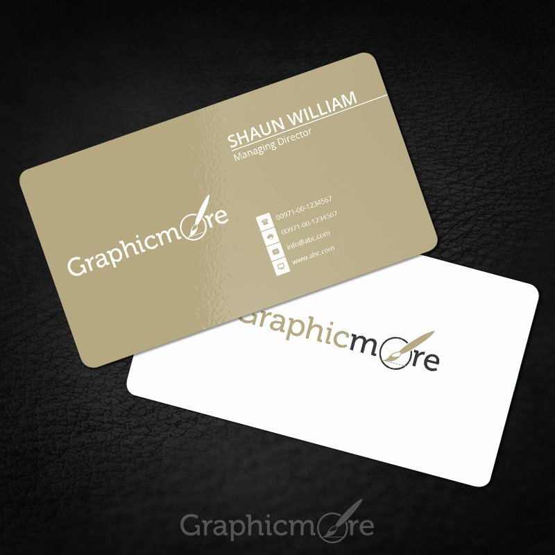 Rounded Business Cards Template Luxury Rounded Corner Gold Business Card Template & Mockup Free Psd