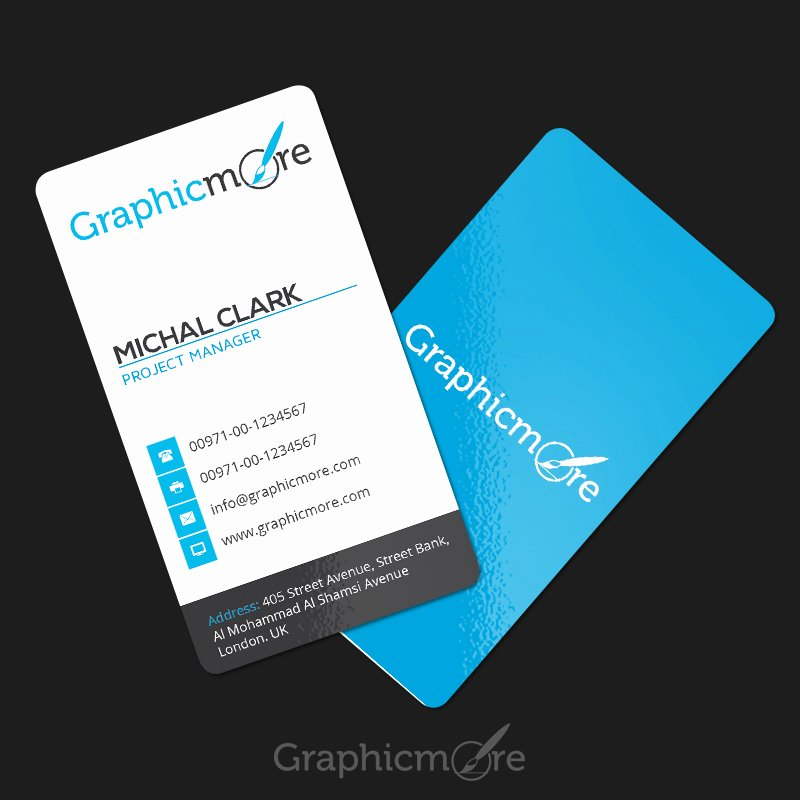Rounded Business Cards Template Unique Clean Vertical Rounded Corner Business Card Template