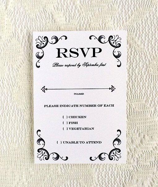 Rsvp Card Template Free Elegant Vintage Iron & Lace Rsvp Template