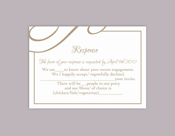 Rsvp Card Template Free Fresh Diy Wedding Rsvp Template Editable Text Word File Download