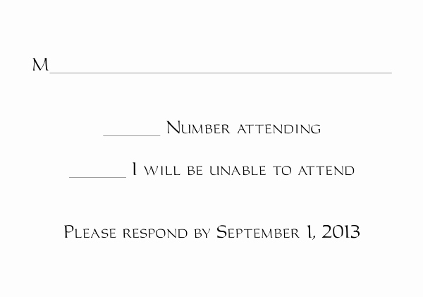 Rsvp Card Template Free Fresh Response Card Templates 1 and 2