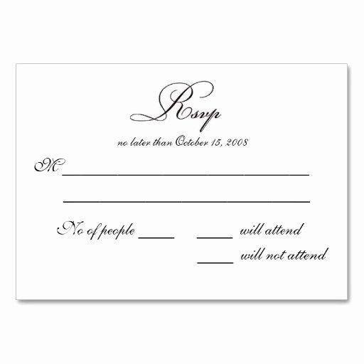 Rsvp Card Template Free Inspirational Free Printable Wedding Rsvp Card Templates