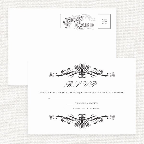 Rsvp Cards Template Free Awesome 7 Best Of Printable Rsvp Cards for Weddings Free