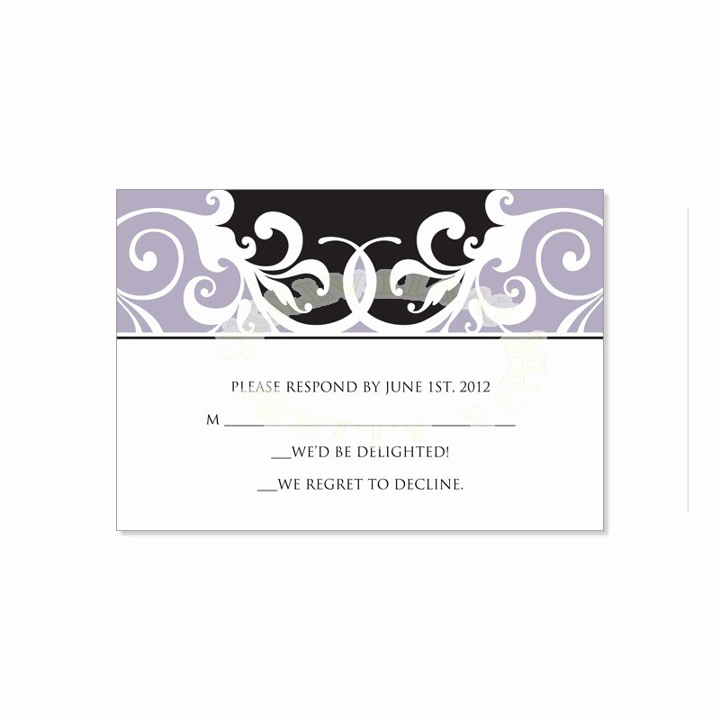 Rsvp Cards Template Free Awesome Wedding Rsvp Template
