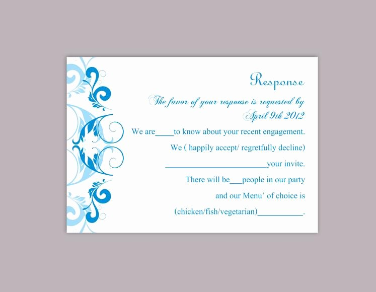 Rsvp Cards Template Free Best Of Diy Wedding Rsvp Template Editable Word File Instant