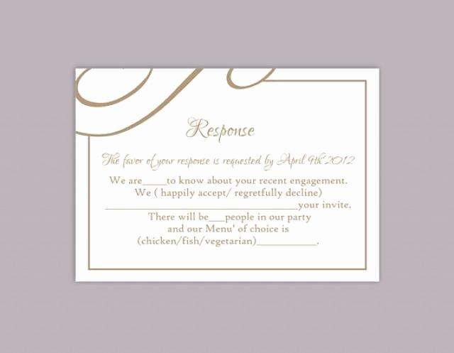 Rsvp Cards Template Free Elegant Diy Wedding Rsvp Template Editable Text Word File Download