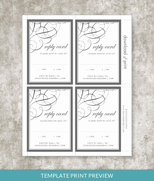 Rsvp Cards Template Free Fresh 9834 Ae Print Preview