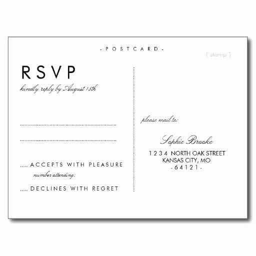 Rsvp Cards Template Free Fresh Best 25 Wedding Postcard Ideas On Pinterest