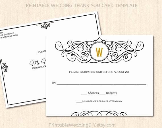 printable wedding rsvp postcard template