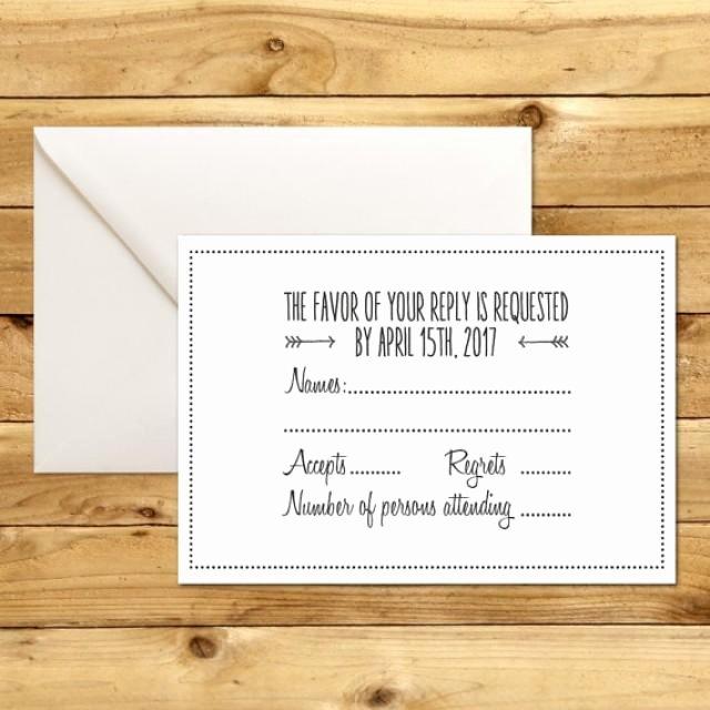 Rsvp Cards Template Free Fresh Printable Wedding Rsvp Response Card Template Dark