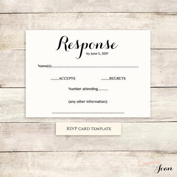 Rsvp Cards Template Free Fresh Printable Wedding Rsvp Template Rsvp Card byron Any