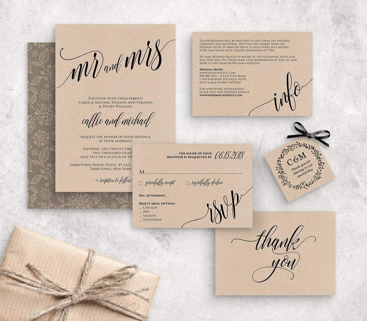 Rustic Wedding Invitation Template Awesome Wedding Invitation Template Instant Download Rustic Modern