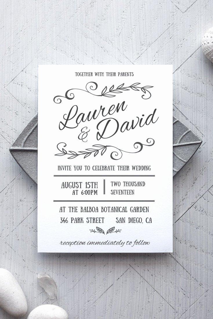 Rustic Wedding Invitation Template Beautiful Rustic Wedding Invitation Templates