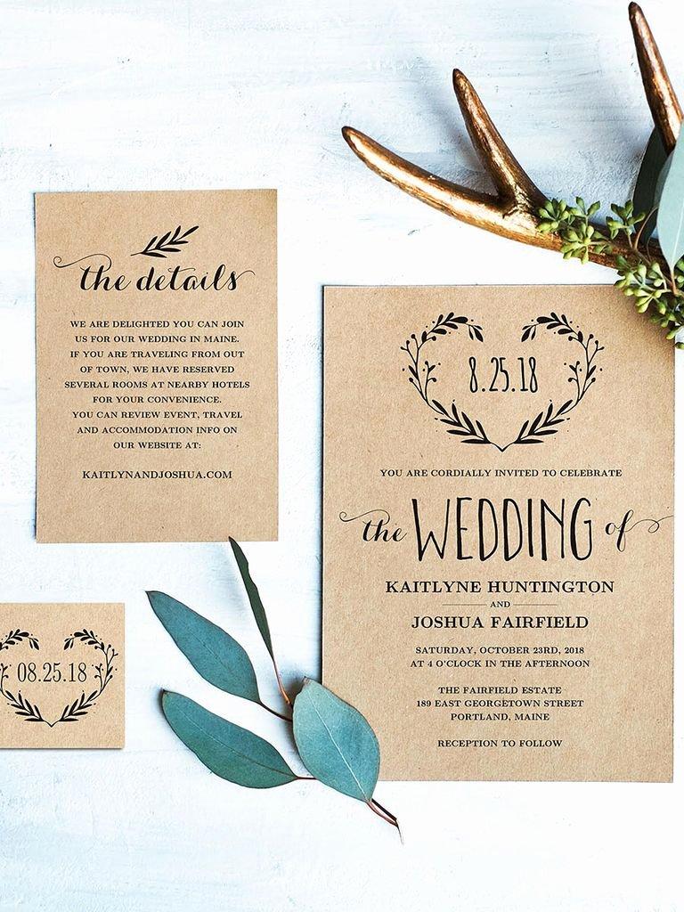 Rustic Wedding Invitation Template Elegant 16 Printable Wedding Invitation Templates You Can Diy